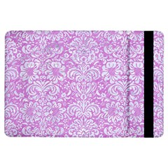 Damask2 White Marble & Purple Colored Pencil Ipad Air Flip