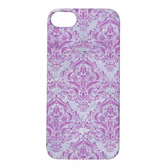 Damask1 White Marble & Purple Colored Pencil (r) Apple Iphone 5s/ Se Hardshell Case