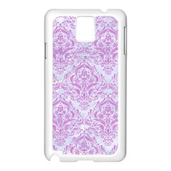 Damask1 White Marble & Purple Colored Pencil (r) Samsung Galaxy Note 3 N9005 Case (white)