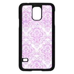 Damask1 White Marble & Purple Colored Pencil (r) Samsung Galaxy S5 Case (black)