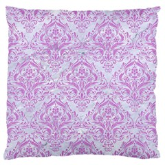 Damask1 White Marble & Purple Colored Pencil (r) Standard Flano Cushion Case (two Sides)