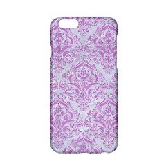 Damask1 White Marble & Purple Colored Pencil (r) Apple Iphone 6/6s Hardshell Case