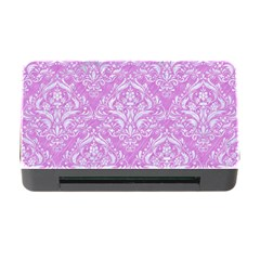 Damask1 White Marble & Purple Colored Pencil Memory Card Reader With Cf by trendistuff