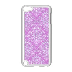 Damask1 White Marble & Purple Colored Pencil Apple Ipod Touch 5 Case (white)