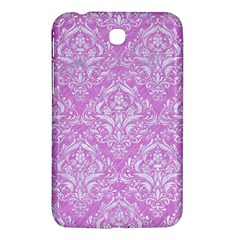 Damask1 White Marble & Purple Colored Pencil Samsung Galaxy Tab 3 (7 ) P3200 Hardshell Case