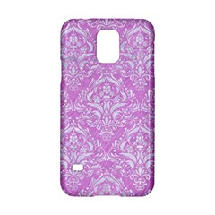 Damask1 White Marble & Purple Colored Pencil Samsung Galaxy S5 Hardshell Case