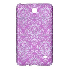 Damask1 White Marble & Purple Colored Pencil Samsung Galaxy Tab 4 (7 ) Hardshell Case