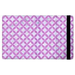 Circles3 White Marble & Purple Colored Pencil (r) Apple Ipad 2 Flip Case by trendistuff
