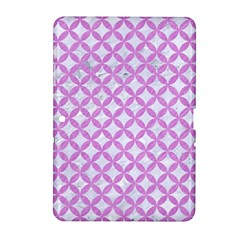 Circles3 White Marble & Purple Colored Pencil (r) Samsung Galaxy Tab 2 (10 1 ) P5100 Hardshell Case