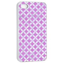 Circles3 White Marble & Purple Colored Pencil Apple Iphone 4/4s Seamless Case (white)