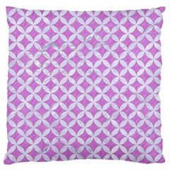 Circles3 White Marble & Purple Colored Pencil Large Cushion Case (two Sides)