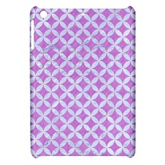Circles3 White Marble & Purple Colored Pencil Apple Ipad Mini Hardshell Case