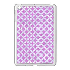 Circles3 White Marble & Purple Colored Pencil Apple Ipad Mini Case (white)