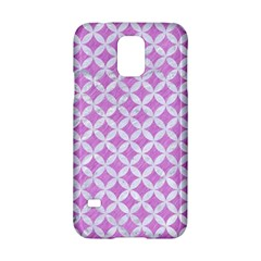 Circles3 White Marble & Purple Colored Pencil Samsung Galaxy S5 Hardshell Case