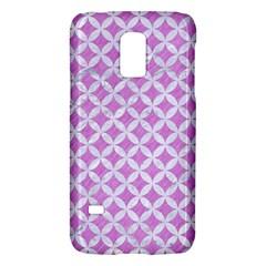 Circles3 White Marble & Purple Colored Pencil Galaxy S5 Mini