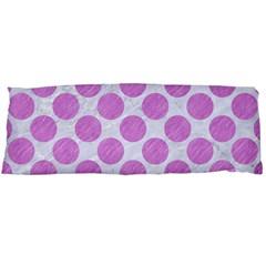Circles2 White Marble & Purple Colored Pencil (r) Body Pillow Case (dakimakura)