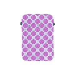 Circles2 White Marble & Purple Colored Pencil (r) Apple Ipad Mini Protective Soft Cases
