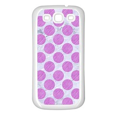 Circles2 White Marble & Purple Colored Pencil (r) Samsung Galaxy S3 Back Case (white)