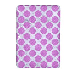 Circles2 White Marble & Purple Colored Pencil (r) Samsung Galaxy Tab 2 (10 1 ) P5100 Hardshell Case
