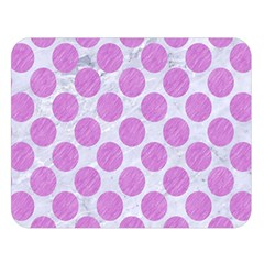 Circles2 White Marble & Purple Colored Pencil (r) Double Sided Flano Blanket (large)  by trendistuff