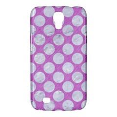 Circles2 White Marble & Purple Colored Pencil Samsung Galaxy Mega 6 3  I9200 Hardshell Case