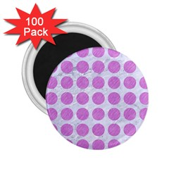 Circles1 White Marble & Purple Colored Pencil (r) 2 25  Magnets (100 Pack)