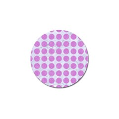Circles1 White Marble & Purple Colored Pencil (r) Golf Ball Marker (10 Pack) by trendistuff