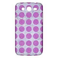 Circles1 White Marble & Purple Colored Pencil (r) Samsung Galaxy Mega 5 8 I9152 Hardshell Case