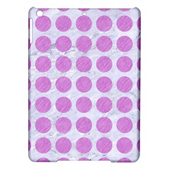 Circles1 White Marble & Purple Colored Pencil (r) Ipad Air Hardshell Cases