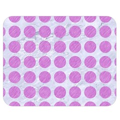 Circles1 White Marble & Purple Colored Pencil (r) Double Sided Flano Blanket (medium)