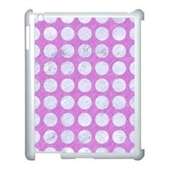 Circles1 White Marble & Purple Colored Pencil Apple Ipad 3/4 Case (white)