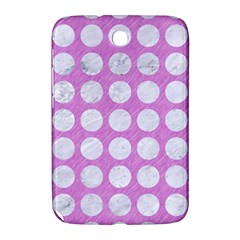Circles1 White Marble & Purple Colored Pencil Samsung Galaxy Note 8 0 N5100 Hardshell Case