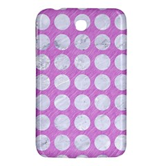 Circles1 White Marble & Purple Colored Pencil Samsung Galaxy Tab 3 (7 ) P3200 Hardshell Case