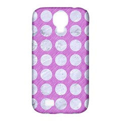 Circles1 White Marble & Purple Colored Pencil Samsung Galaxy S4 Classic Hardshell Case (pc+silicone)