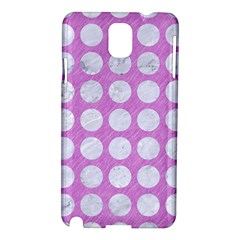 Circles1 White Marble & Purple Colored Pencil Samsung Galaxy Note 3 N9005 Hardshell Case by trendistuff