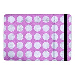 Circles1 White Marble & Purple Colored Pencil Samsung Galaxy Tab Pro 10 1  Flip Case