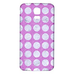 Circles1 White Marble & Purple Colored Pencil Samsung Galaxy S5 Back Case (white)