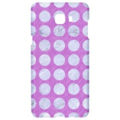 Circles1 White Marble & Purple Colored Pencil Samsung C9 Pro Hardshell Case  by trendistuff