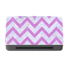Chevron9 White Marble & Purple Colored Pencil (r) Memory Card Reader With Cf