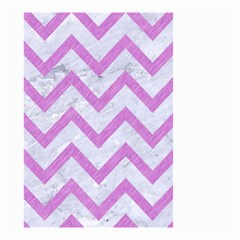 Chevron9 White Marble & Purple Colored Pencil (r) Small Garden Flag (two Sides)