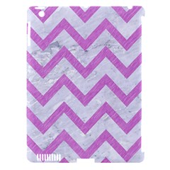 Chevron9 White Marble & Purple Colored Pencil (r) Apple Ipad 3/4 Hardshell Case (compatible With Smart Cover)