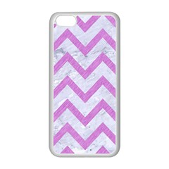 Chevron9 White Marble & Purple Colored Pencil (r) Apple Iphone 5c Seamless Case (white)