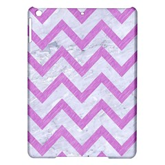 Chevron9 White Marble & Purple Colored Pencil (r) Ipad Air Hardshell Cases by trendistuff