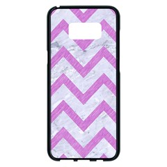 Chevron9 White Marble & Purple Colored Pencil (r) Samsung Galaxy S8 Plus Black Seamless Case by trendistuff