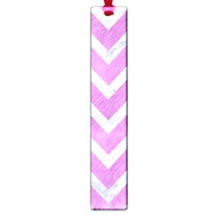 Chevron9 White Marble & Purple Colored Pencil Large Book Marks