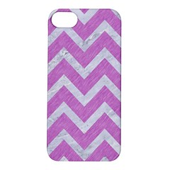 Chevron9 White Marble & Purple Colored Pencil Apple Iphone 5s/ Se Hardshell Case