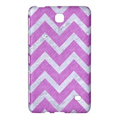 Chevron9 White Marble & Purple Colored Pencil Samsung Galaxy Tab 4 (8 ) Hardshell Case  by trendistuff