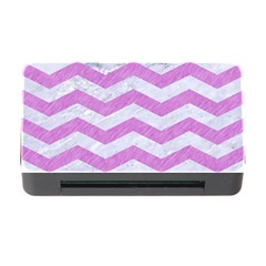 Chevron3 White Marble & Purple Colored Pencil Memory Card Reader With Cf