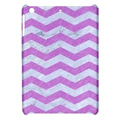 Chevron3 White Marble & Purple Colored Pencil Apple Ipad Mini Hardshell Case