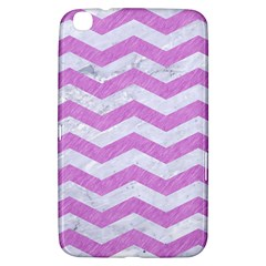 Chevron3 White Marble & Purple Colored Pencil Samsung Galaxy Tab 3 (8 ) T3100 Hardshell Case